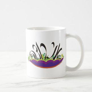 Quiero (stylized en cursive hebreo) taza de café