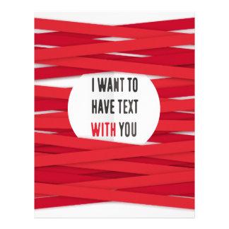Quiero tener texto con usted até el fondo membrete a diseño