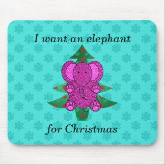 Quiero un elefante para el brillo púrpura del navi tapete de ratones