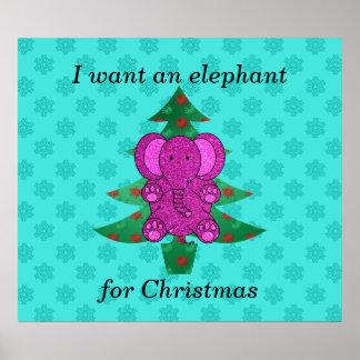 Quiero un elefante para el brillo púrpura del navi impresiones