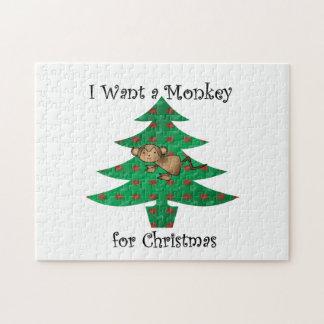 Quiero un mono para el navidad rompecabezas