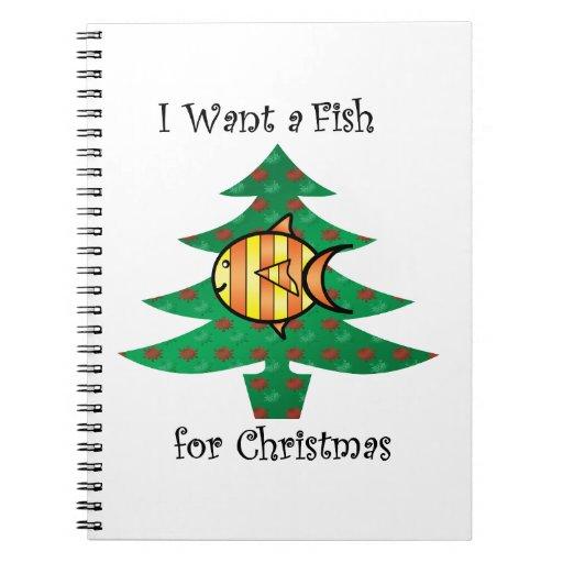 Quiero un pescado para el navidad libros de apuntes