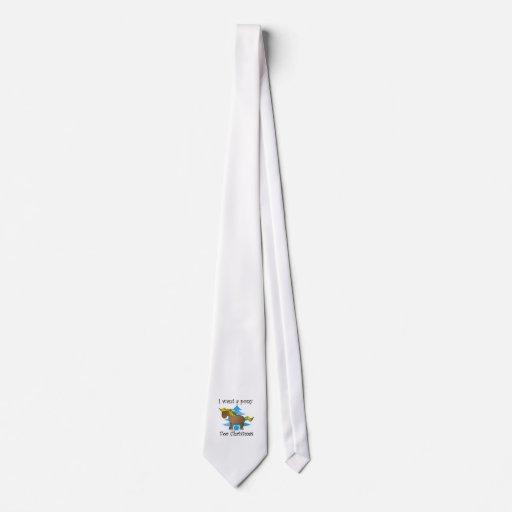 Quiero un potro para el navidad corbata personalizada