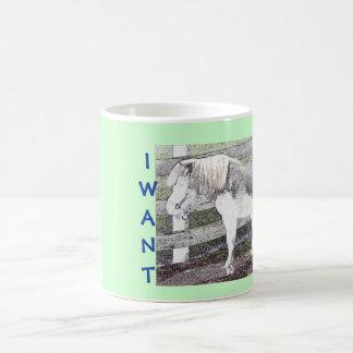¡Quiero un potro! Taza