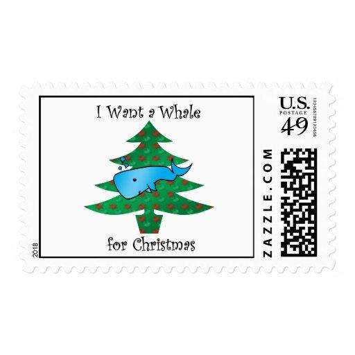 Quiero una ballena para el navidad sello