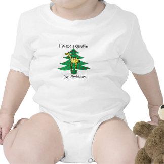 Quiero una jirafa para el navidad trajes de bebé