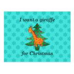 Quiero una jirafa para el navidad postal