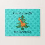 Quiero una jirafa para el navidad rompecabezas con fotos