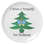 Quiero una mariposa para el navidad platos de comidas