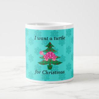 Quiero una tortuga para el navidad taza grande