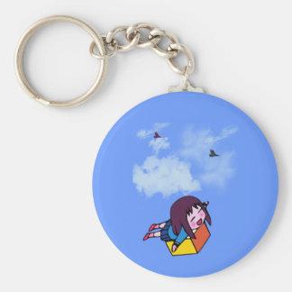Quiero volar llavero redondo tipo pin
