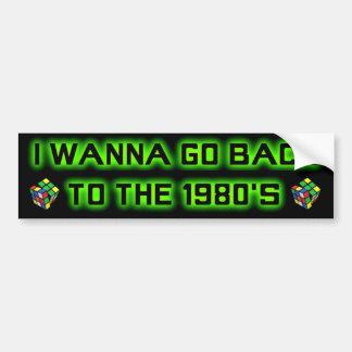 Quiero volver a los años 80 - parachoque sticker-2 pegatina para auto