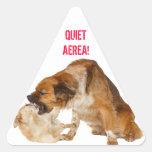 Quiet area! triangle sticker