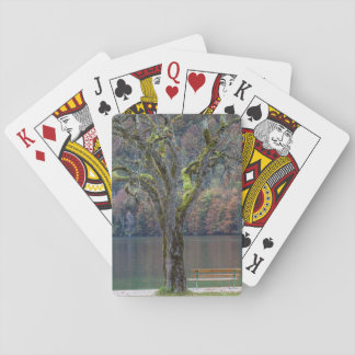 Quiet bench along a lake, Germany Playing Cards