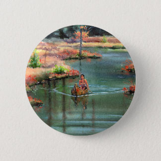 QUIET CANOE by SHARON SHARPE Button