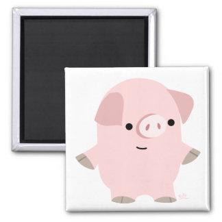 Quiet Cartoon Pig magnet