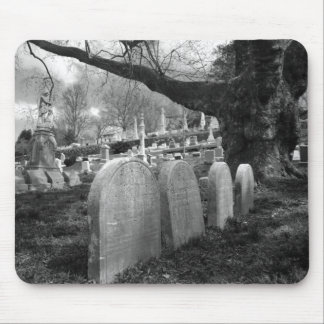 quiet cemetery mouse pad