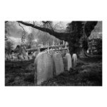 quiet cemetery poster