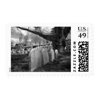quiet cemetery stamp
