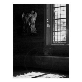 Quiet Church Light in Black and White Poster