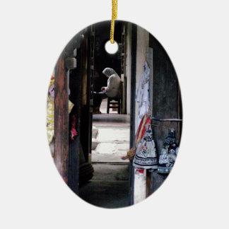 'Quiet corridor' Shianghai Ceramic Ornament