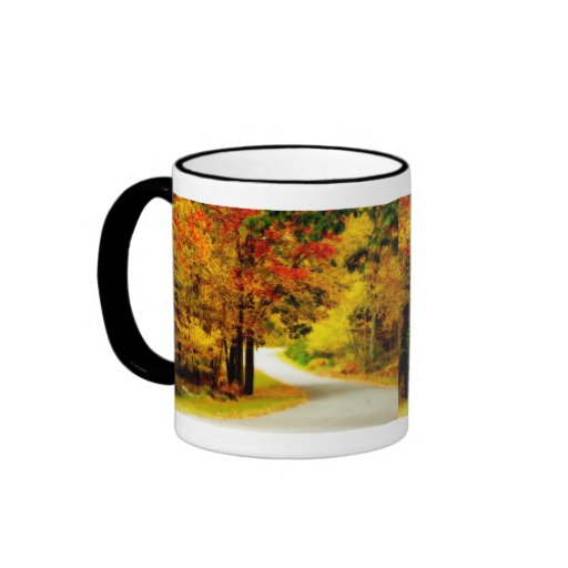 Quiet Country Lane in Autumn Mug