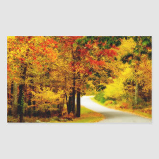 Quiet Country Lane in Autumn Stickers