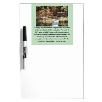 Quiet Courage Inspirational Dry Erase Board