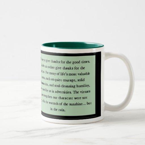 Quiet Courage Inspirational Verse Two-Tone Coffee Mug