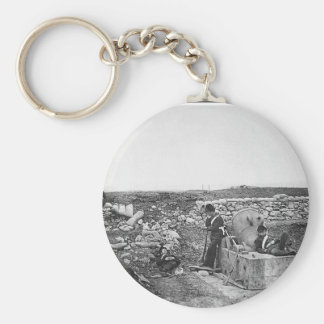 Quiet Day in the Mortar Battery ~ 1855 Basic Round Button Keychain