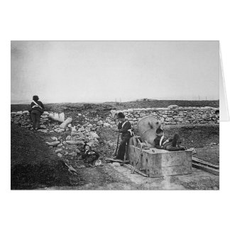 Quiet Day in the Mortar Battery ~ 1855 Card
