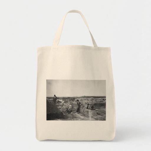 Quiet Day in the Mortar Battery ~ 1855 Tote Bags