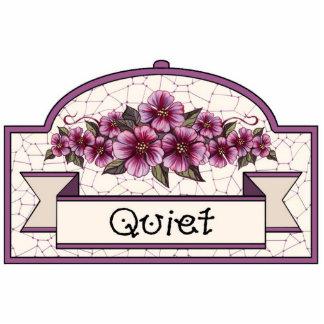 """""""Quiet"""" - Decorative Sign - 15 Statuette"""