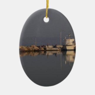 Quiet Harbor Ceramic Ornament