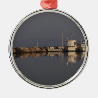 Quiet Harbor Metal Ornament