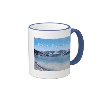 Quiet Lake Easy Does It Ringer Coffee Mug