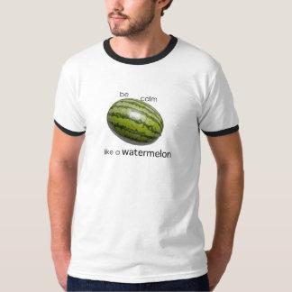 """quiet like a watermelon"" ringer T-shirt"