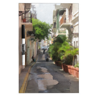 Quiet Little Street of Puerto Rico Dry-Erase Board