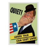 Quiet! Loose Talk Can Cost Lives Print