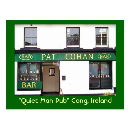 Quiet Man Pub Postcard