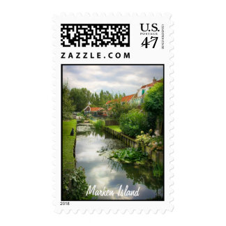 Quiet Marken Canal, Sights of the Netherlands Postage