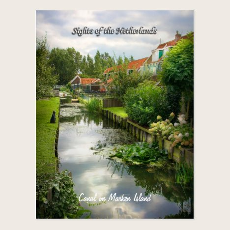 Quiet Marken Canal, Sights of the Netherlands Postcard