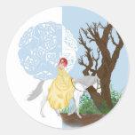 Quiet Moments Round Sticker