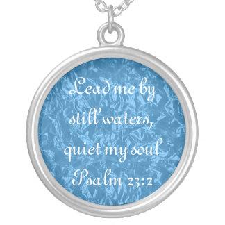 Quiet my soul bible verse Psalm 23:2 necklace
