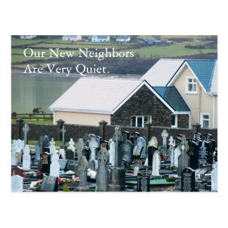 Quiet Neighbors Funny Change of Address Postcard