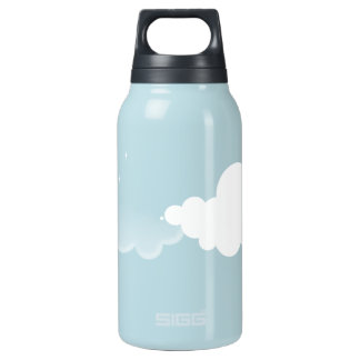 Quiet night insulated water bottle