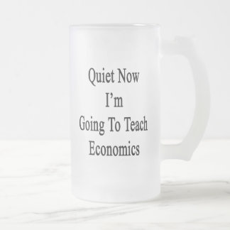 Quiet Now I'm Going To Teach Economics 16 Oz Frosted Glass Beer Mug