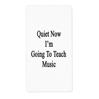 Quiet Now I'm Going To Teach Music Personalized Shipping Labels