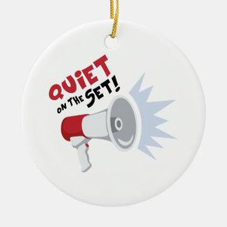 Quiet On Set Ceramic Ornament