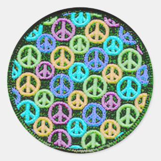 Quiet Peace Signs Classic Round Sticker